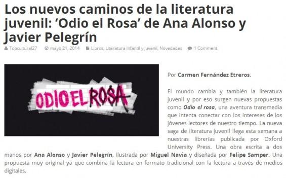 top cultural odio el rosa