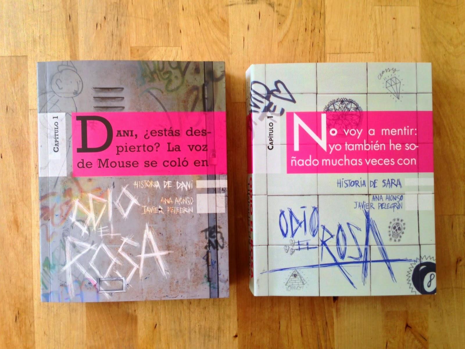 odio el rosa libros fondo madera