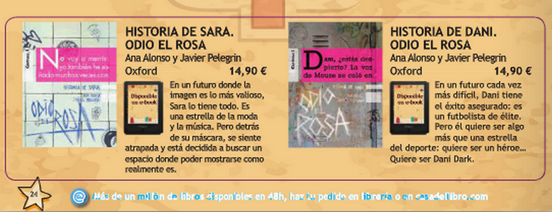 catalogo odio el rosa historia de sara historia de dani