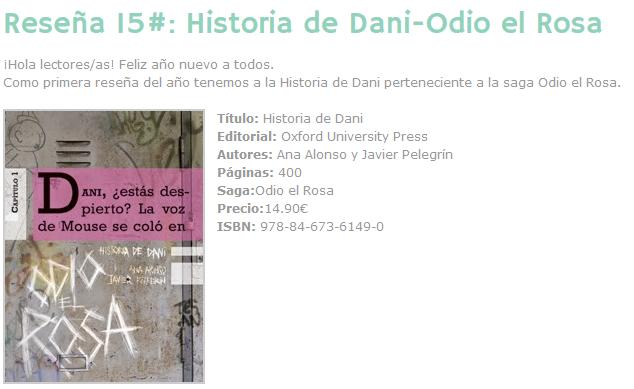 viajando entre libros reseña historia de dani