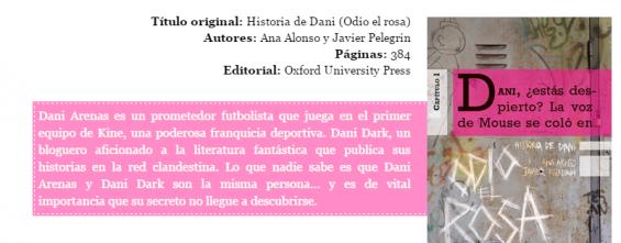 """reseña de historia de dani en el blog """"flota con un libro"""""""