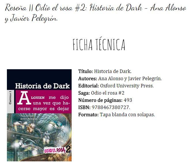 """reseña de historia de dark del blog """"books are my escape"""""""