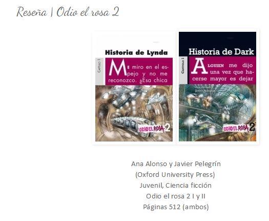 "Reseña de Odio el Rosa 2 del blog ""some books you read"""