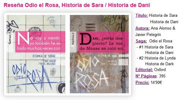 Reseña de Historia de Sara e Historia de Dani del blog Sugabooks