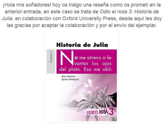 """reseña odio el rosa- historia de lynda blog """"leyendo y soñando"""""""