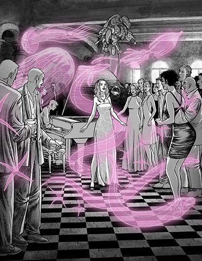 Sara cantando en la fiesta de Sweet Pink. Historia de Sara 6